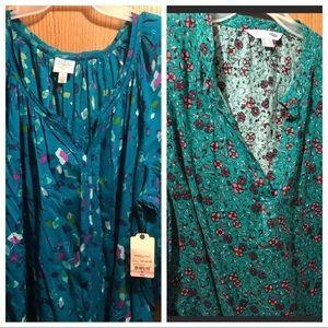 2 Plus Size Floral Print Blouse (BUNDLE)